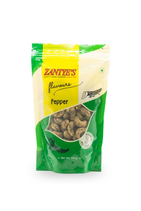 Pepper Cashews Front